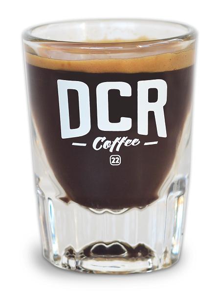 DCR Shot Glass   Dillanos Coffee Roasters