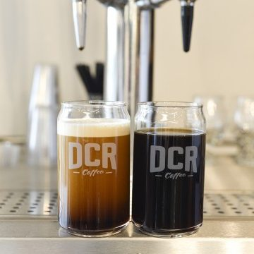 DCR Coffee Beer Can Glass