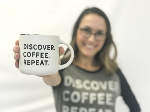 DCR Discover Coffee Repeat Mug and Shirt