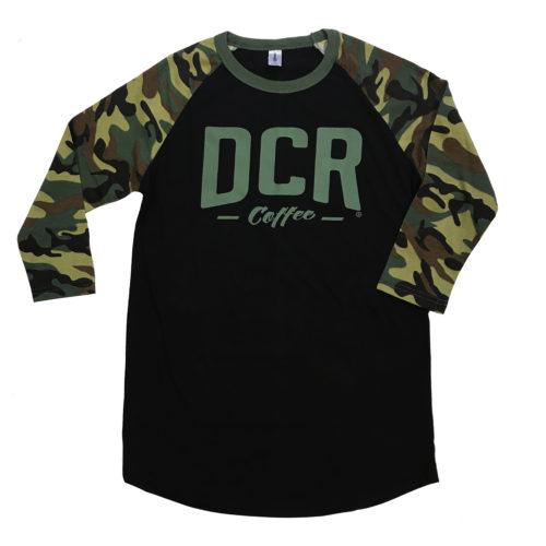 Lades Raglan Camo Shirt by Dillanos Coffee Roasters