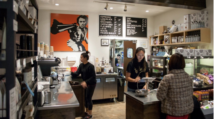 Inside a Two Guns Espresso cafe