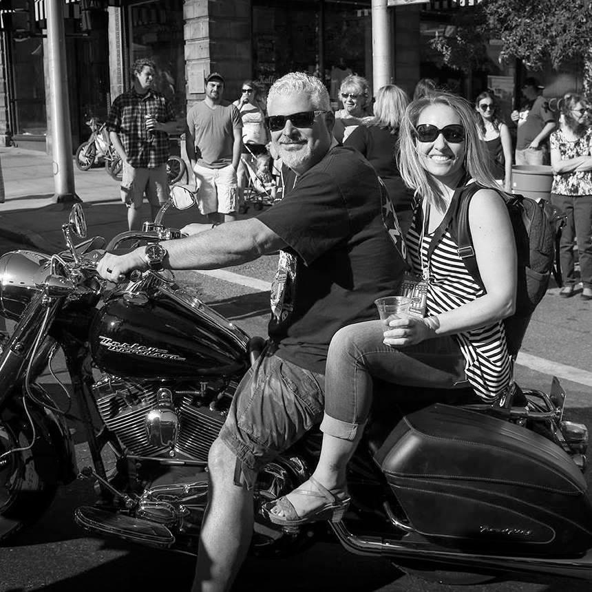 David with wife Celeste at Evel Knievel Days