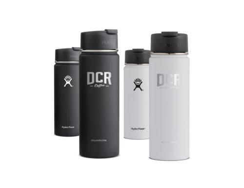 DCR Logo Hydro Flasks 20 oz wide mouth with flip lid