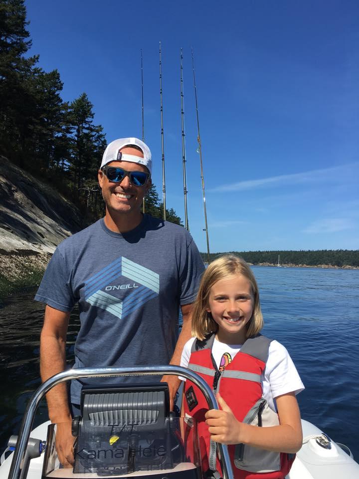 Chris Heyer fishing with daughter Ava
