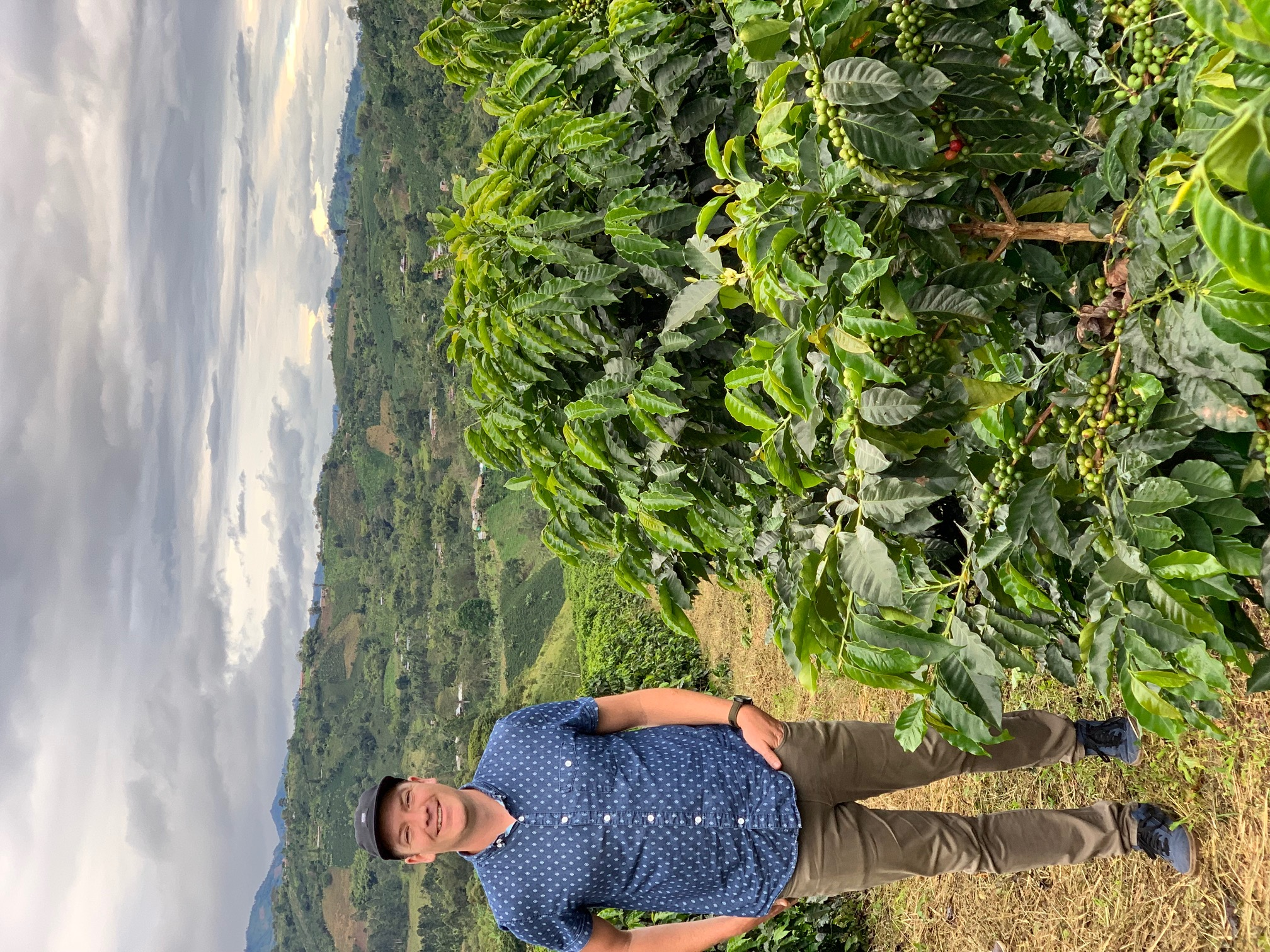 Phil Beattie on a coffee farm